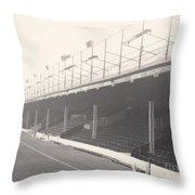 Reading - Elm Park - Norfolk Road Stand 1 - Bw - 1968 Throw Pillow
