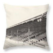 Reading - Elm Park - Norfolk Road Stand 2 - Bw - 1970 Throw Pillow