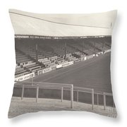Reading - Elm Park - Norfolk Road Stand 3 - Bw - 1970 Throw Pillow