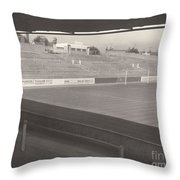 Reading - Elm Park - Reading End 1 - Bw - 1968 Throw Pillow