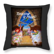 Reading Is Magic Throw Pillow