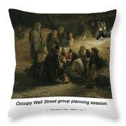 Reading Of The 1861 Manifesto Throw Pillow