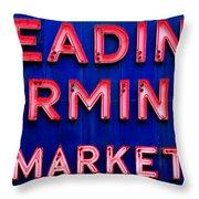 Reading Terminal Market Throw Pillow