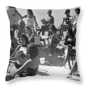 Reading The News Throw Pillow