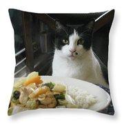 Ready For Dinner Throw Pillow
