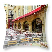 Ready For Lunch In Lyon Throw Pillow