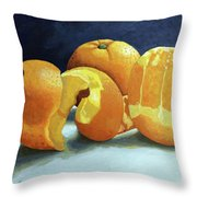 Ready For Oranges Throw Pillow