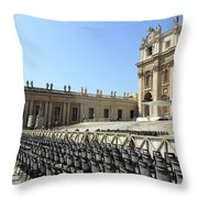 Ready For Pope's Appearance Throw Pillow