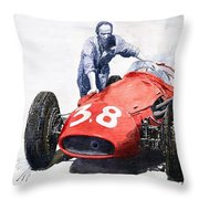 Ready For Racing Maserati 250 F Throw Pillow
