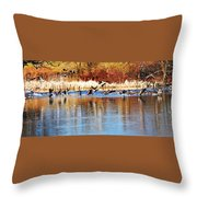 Ready Get Set Go Throw Pillow