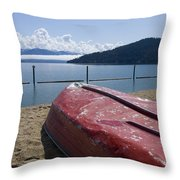 Ready In Red Throw Pillow