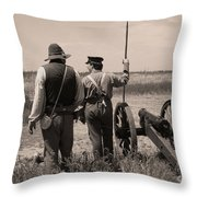 Ready On The Right Throw Pillow