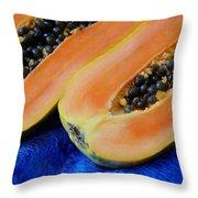 Ready Papaya Throw Pillow