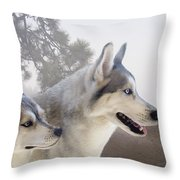 Ready Forthe Chase Throw Pillow