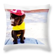 Fire Pup Ready To Roll Throw Pillow