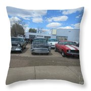 Readying To Race Throw Pillow