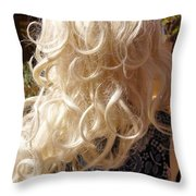 Real Blond Throw Pillow