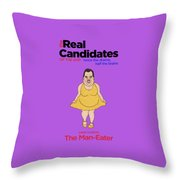 Real Candidates Of The Gop - Chris Christie - The Man-eater Throw Pillow