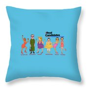 Real Candidates Of The Gop -clear Background Version 2 Throw Pillow