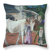 Real Life In Her Dreams Throw Pillow