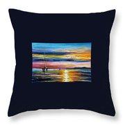 Real Sunset Throw Pillow