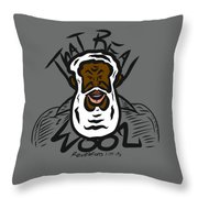 Real Wool Throw Pillow