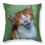 Really I Am Wide Aaawaaaaake Throw Pillow