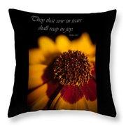 Reap In Joy Throw Pillow