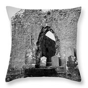 Rear Entrance Fuerty Church Roscommon Ireland Throw Pillow