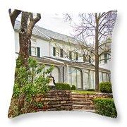 Rear Of Eisenhower Home In Gettysburg National Military Park-pennsylvania Throw Pillow