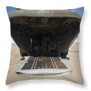 Rear Platform Of A Ch-47 Chinook Throw Pillow