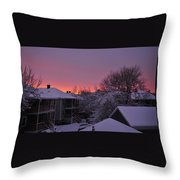 Rear Window To Surreal Throw Pillow