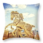 Rearing Throw Pillow