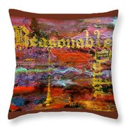 Reasonable Doubt Throw Pillow