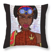 Reasons Of A Steampunk Liberator Throw Pillow