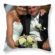Rebecca And David Throw Pillow