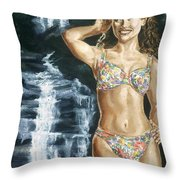 Rebecca Gayheart Throw Pillow