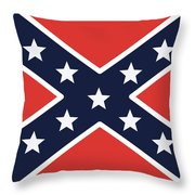 Rebel Flag Throw Pillow