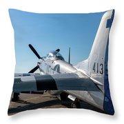 Rebel On The Ramp - 2017 Christopher Buff,www.aviationbuff.com Throw Pillow
