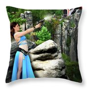 Rebel Stand Throw Pillow
