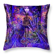 Spiritual Rebirth Of The Blue Planet Throw Pillow