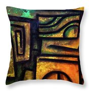 Rebirth Of The Sun Throw Pillow