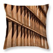 Receding Lines I Throw Pillow