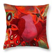 Receptive Heart Throw Pillow