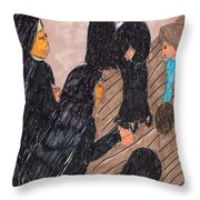 Recess Time With The Sisters Throw Pillow