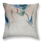 Reclining Female Nude Throw Pillow