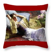 Reclining Odalisque Throw Pillow
