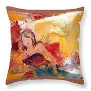 Reclining Woman Throw Pillow
