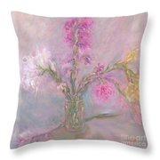 Recollection Of The Dreamy Bloom Throw Pillow