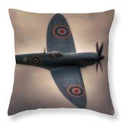 Reconnaissance Spitfire Pl965r Mkxi Throw Pillow